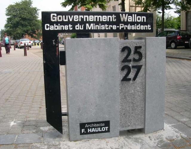 stèle gouvernement wallon